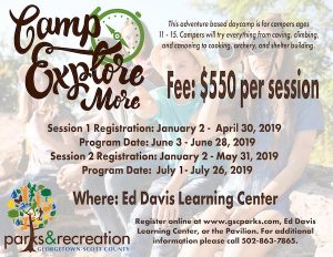Camp Explore More Georgetown KY