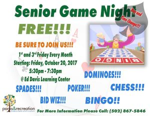 Senior Game Night